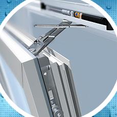 Наши пластиковые окна для остекления балконов комплектуются качественной немецкой фурнитурой Winkhaus с возможностью повортно-откидного или параллельно-сдвижного открывания створок.