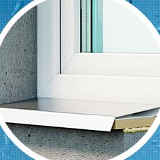 Отливы надежно защищают ваш дом от дождя и снега, для вашего нового окна можно выбрать стальные, алюминиевые или престижные каменные отливы