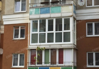 Замена алюминиевого холодного остекления на теплое пластиковое остекление в Калининграде