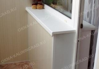 Отделка балконного блока